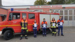 Geschützt: Vier neue Truppmänner für die Feuerwehr Maidbronn